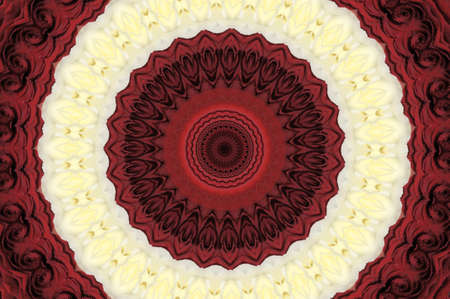 red and white ornament Kaleidoscope photo