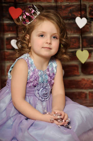 little princess in crown photo