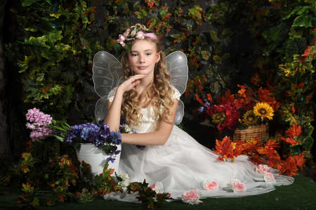 young fairy of flowers Stock Photo - 19249252