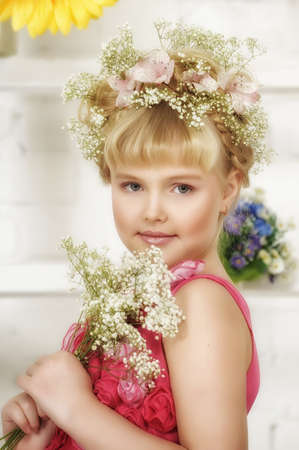young flower girl Stock Photo - 18971415