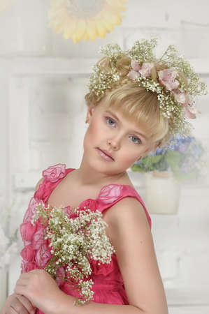 young flower girl Stock Photo - 18812083