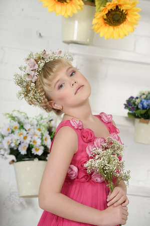 young flower girl Stock Photo - 18812072