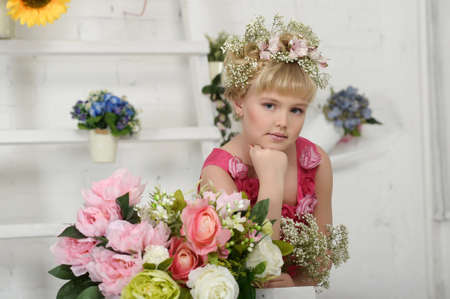 young flower girl Stock Photo - 18812313
