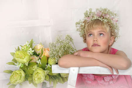 young flower girl Stock Photo - 18812068