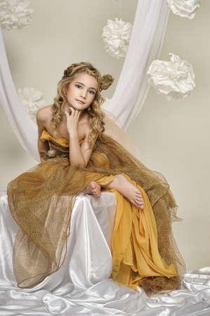 blonde blue eyes: princess  Stock Photo