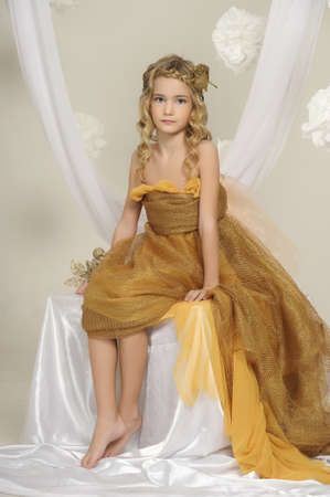 barefoot: girl in gold