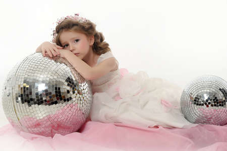 beauty contest: Portrait of beautiful little girl