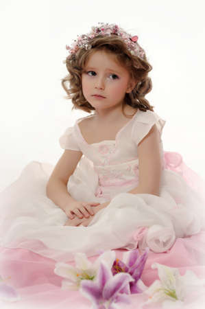 Portrait of beautiful little girl Stock Photo - 19582773