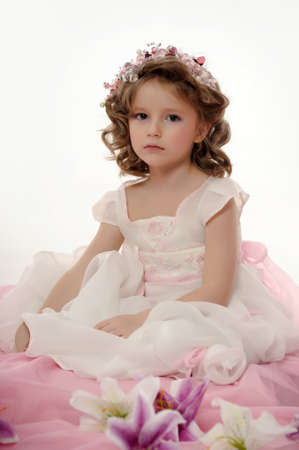 Portrait of beautiful little girl photo