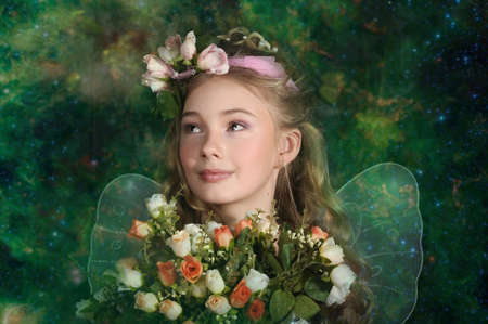 Girl in fairy forest Stock Photo - 19583432