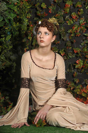 historical periods: girl in medieval dress