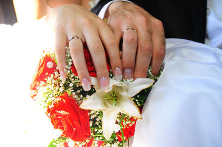 toge: hands of the newlyweds