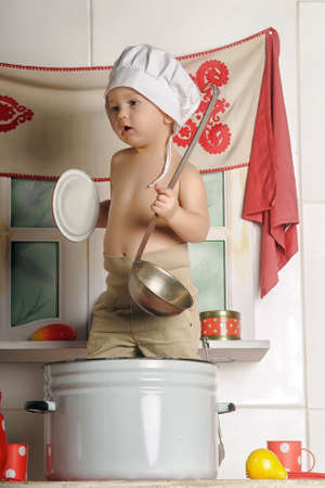 boy in the pan photo