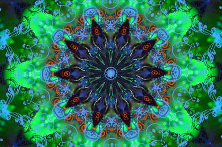 celerity: verde con un patr�n circular azul