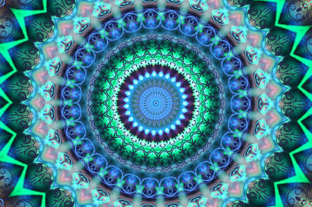 trippy: green with a blue circular pattern