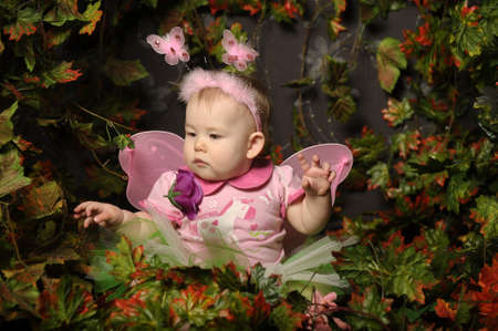 little fairy with wings Stock Photo - 18993796