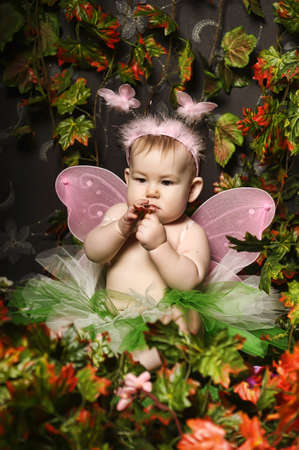 little fairy with wings Stock Photo - 18993800