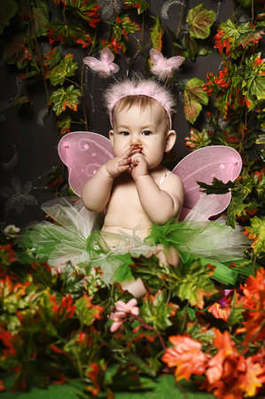 little fairy with wings Stock Photo - 18993799