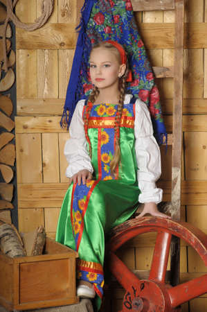 girl in national russian costume Stock Photo - 18999628