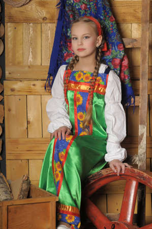 girl in national russian costume  photo