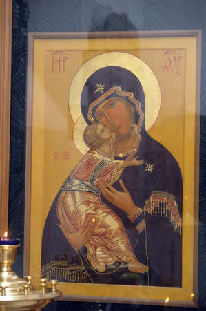 icon in the church photo