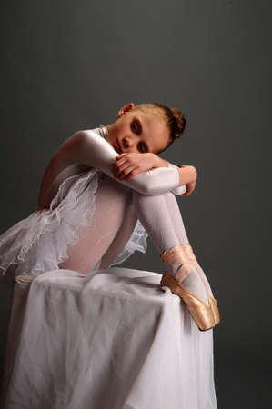 little girl in a ballet dress photo