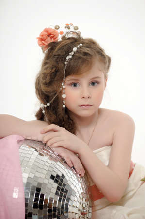 preteen  pure: girl with beads in her hair Stock Photo