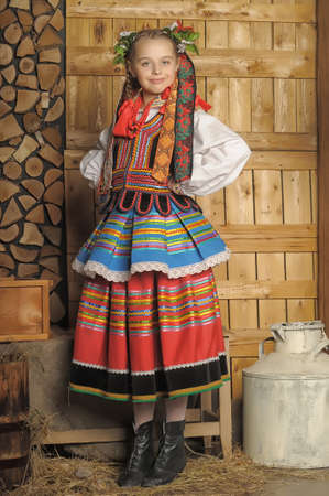 Polish girl in national costume Krakow Stock Photo - 18987657