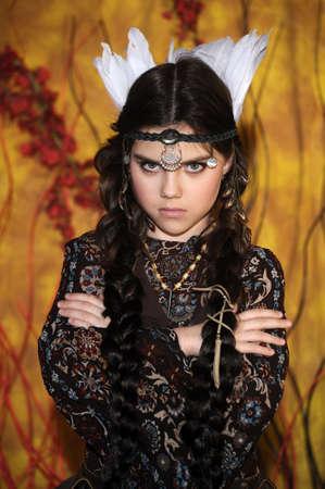 American Indian Girl Stock Photo - 18999094
