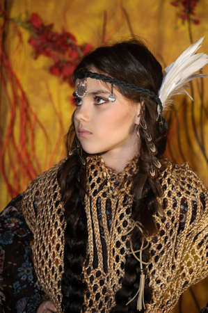 American Indian Girl Stock Photo - 18999082
