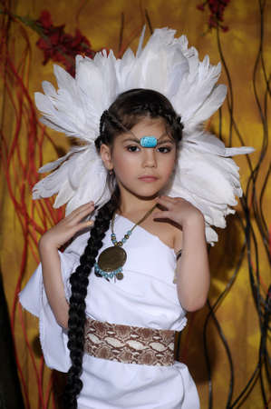 powow: American Indian Girl