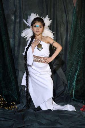 American Indian Girl Stock Photo - 18999044