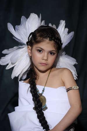 American Indian Girl Stock Photo - 18999052