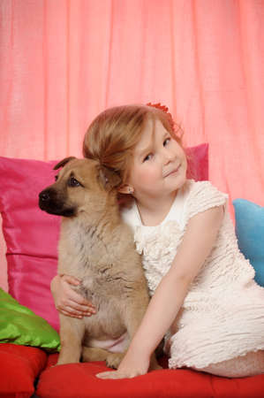 rifrug: little girl with a puppy