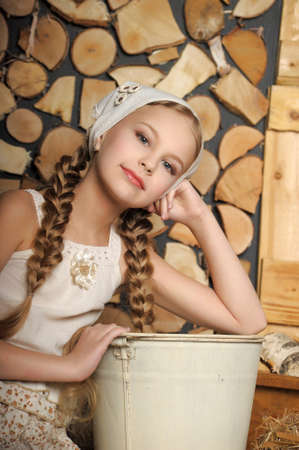 girl in a rustic style photo