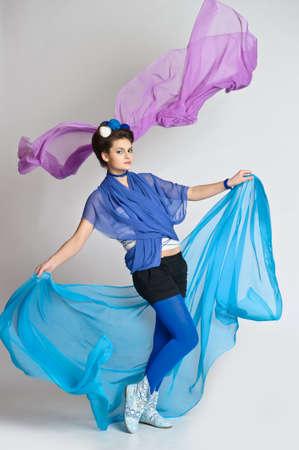 Beautiful girl in blue Stock Photo - 20018141