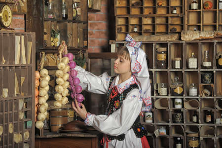 Girl in Polish national costume of Rzeszów Stock Photo - 19201679