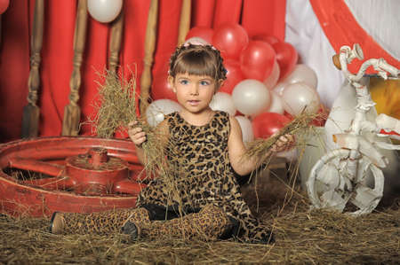 little girl in a retro circus photo