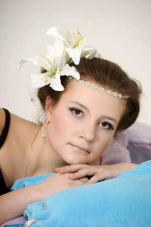 teen girl hairstyle vintage photo