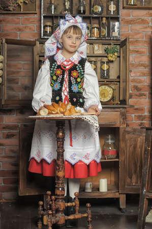 kalabaka: Girl in Polish national costume of Russia