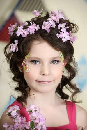girl in lilac Stock Photo - 19397325