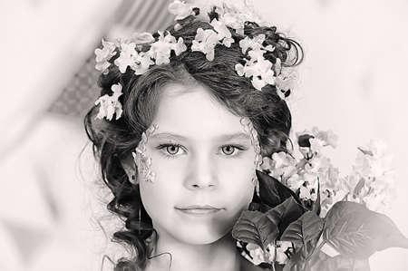 girl in lilac Stock Photo - 19397338