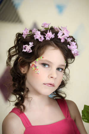 girl in lilac Stock Photo - 19397328