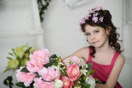 girl in flowers Stock Photo - 19397311