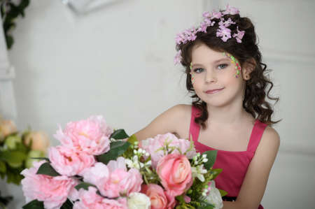 girl in flowers Stock Photo - 19397314