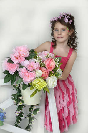 girl in flowers photo