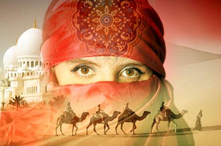 intense: Arab woman