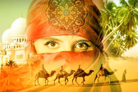animales desierto: Mujer ?rabe