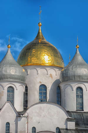 The Cathedral of St  Sophia in Novgorod photo