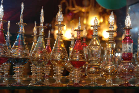 Bottles of Arab perfumes